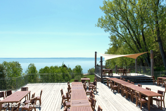 There is outdoor dining along with music and festivals in the summer season