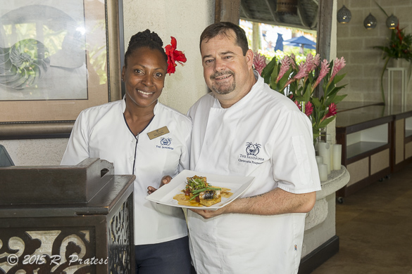 Michelle and Chef Christophe hope you'll come and visit them at The Sandpiper