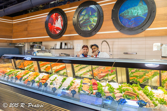 There is an excellent selection of fresh seafood