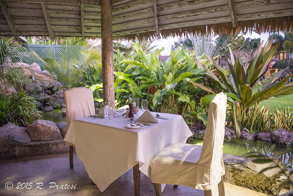 A table for two and views of the resort for breakfast