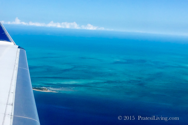Flying into Grand Bahama Island
