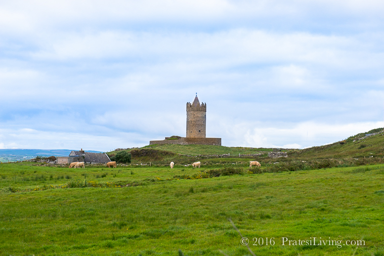 A castle in Lahinch in County Clare