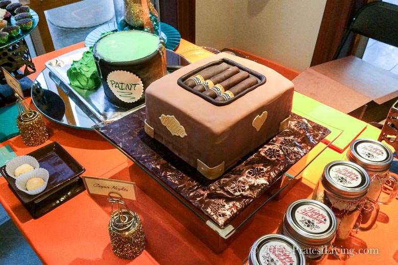 I love the clever cigar box cake