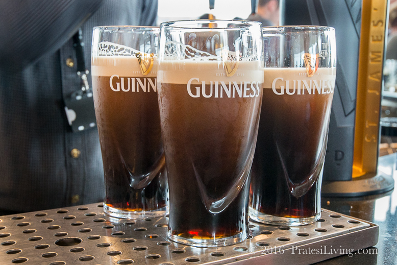 Guinness pours