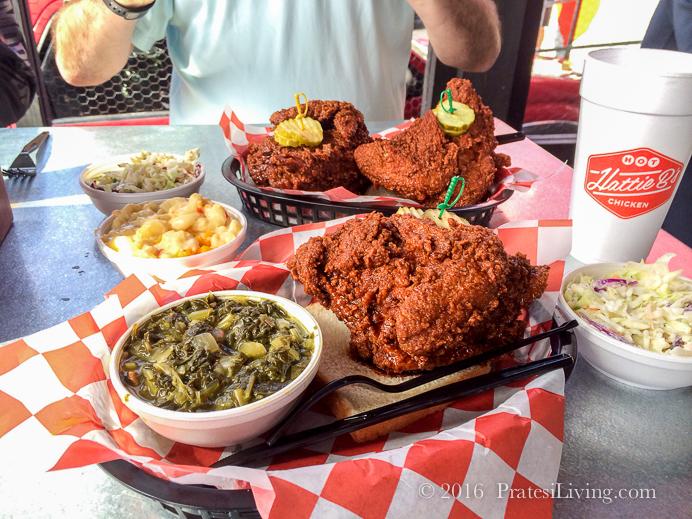 Hot Chicken and sides at Hattie B's