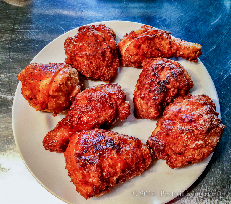 The first test batch of Nashville-Style Habanero Hot Chicken at Seviche