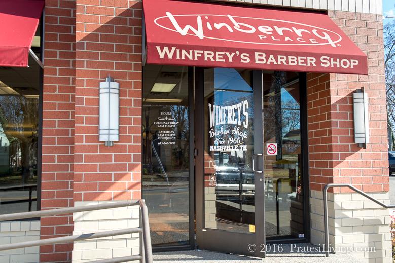 Winfrey's Barbershop in East Nashville