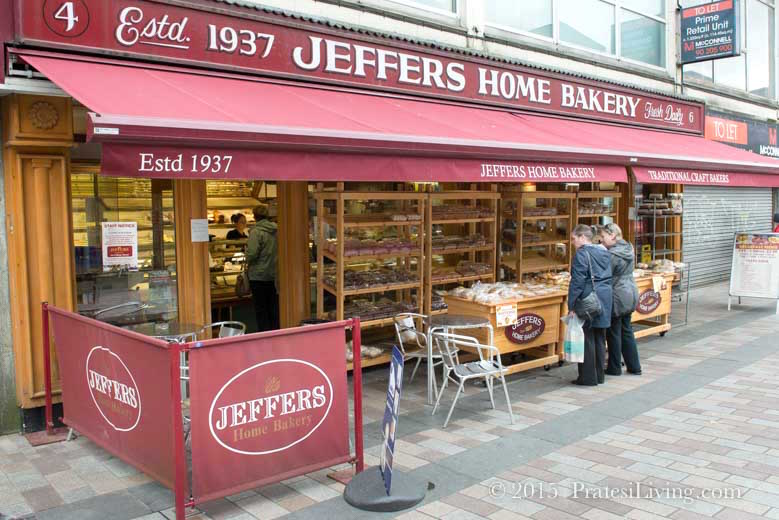Then grab a pastry, cake, or fruit bread for dessert at Jeffers Home Bakery