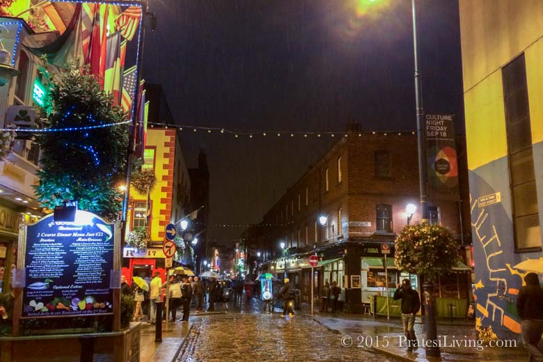 Belfast on a rainy evening