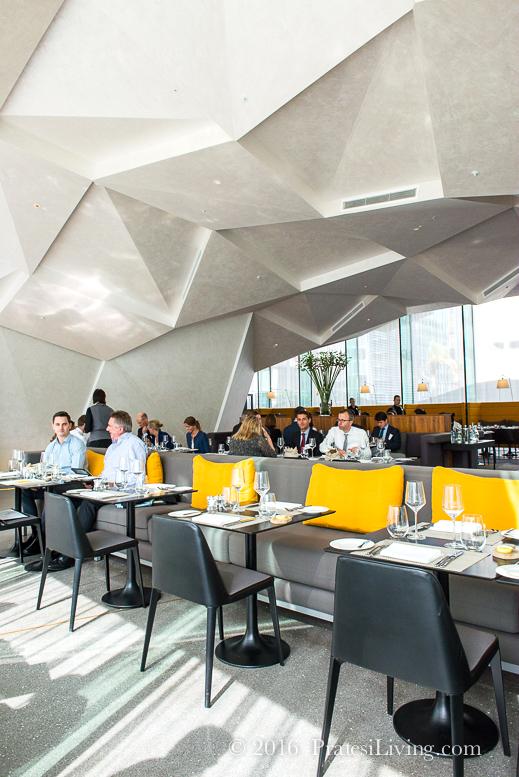 The modern design of The Brasserie