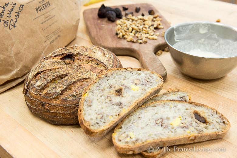 Fig, Polenta, and Walnut Bread