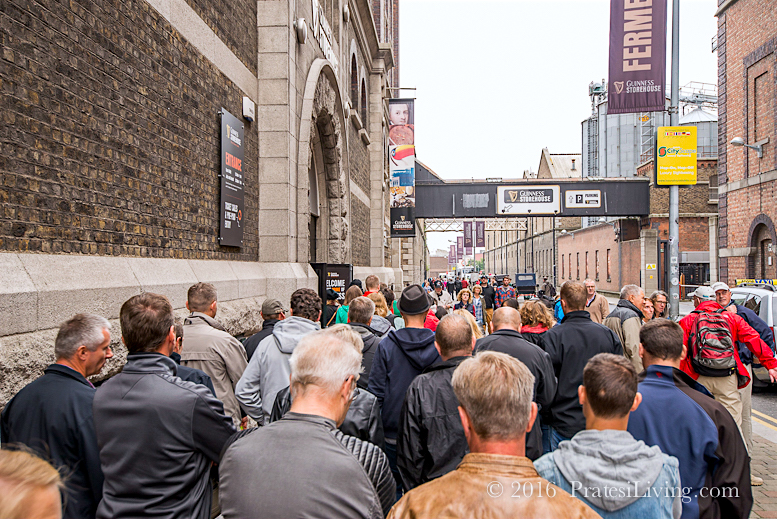 Line outside the Guinness Storehouse