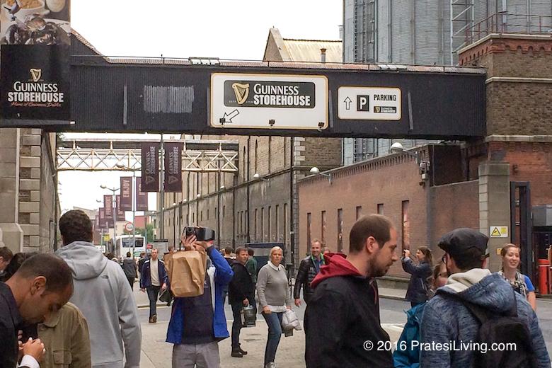 Leaving the Guinness Storehouse