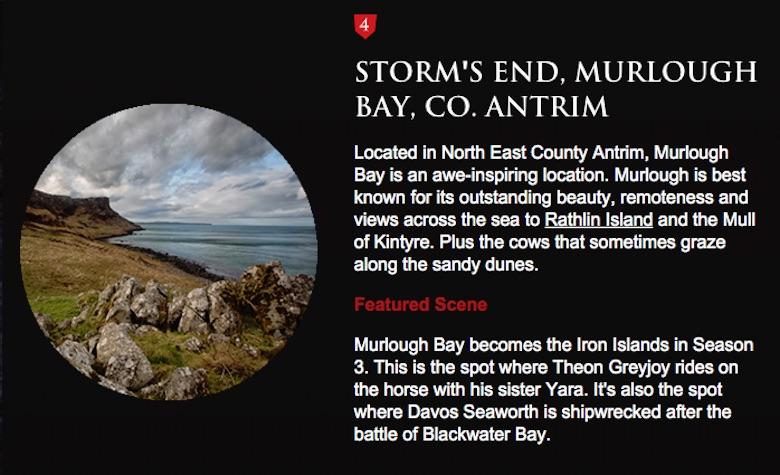 Storm's End, Murlough Bay