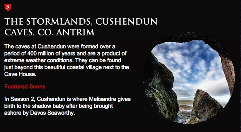 The Stormlands, Cushendum Caves