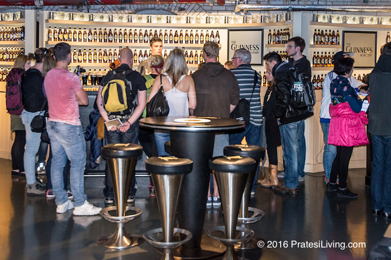 Tasting Guinness is a popular attraction at the Storehouse
