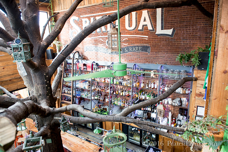 Yes, this a real tree in the middle of the bar