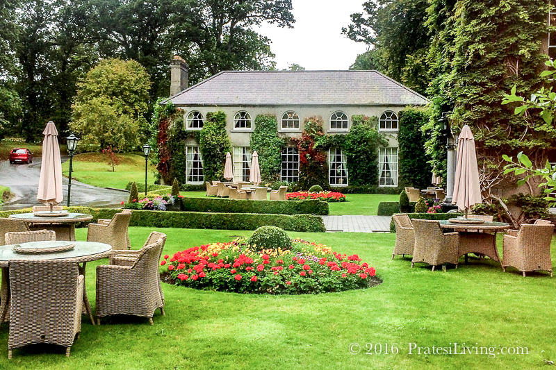 The front lawn at Mount Juliet Estate