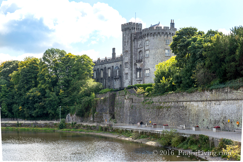 The River Nore runs along the castle wall