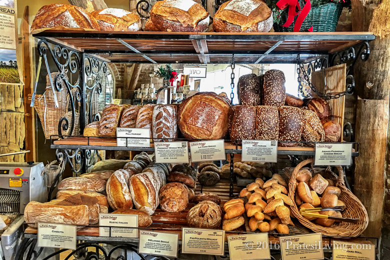 Some of the many breads offered at La Farm Bakery
