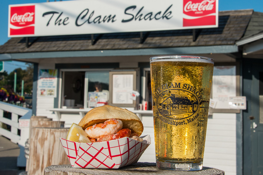 * The perfect summertime treat - an icy cold beer and a Lobster Roll