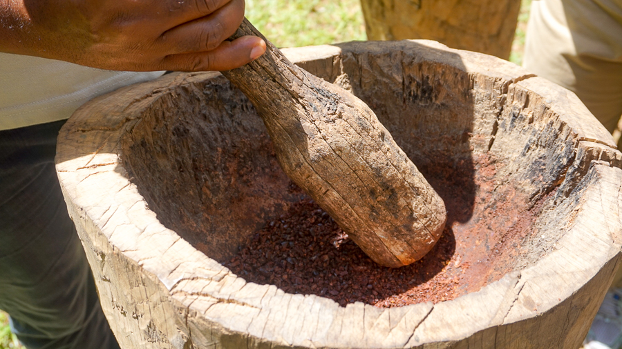 Grinding beans by hand