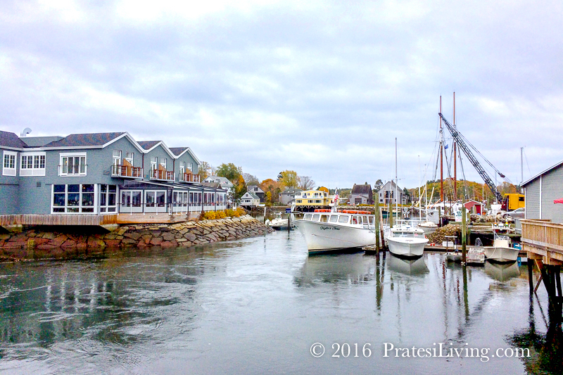 The marina in Dock Square on the Kennebunk River
