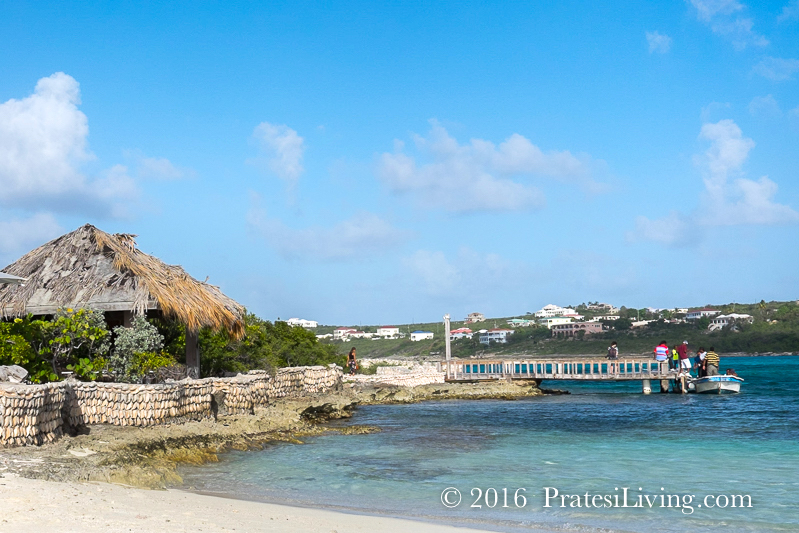 Arriving at Scilly Cay