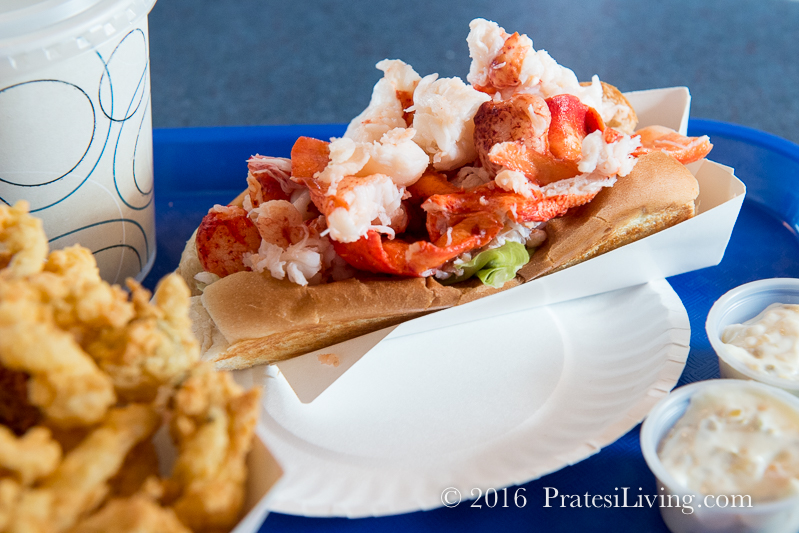 Lobster Roll at The Clam Box in Ipswich, MA