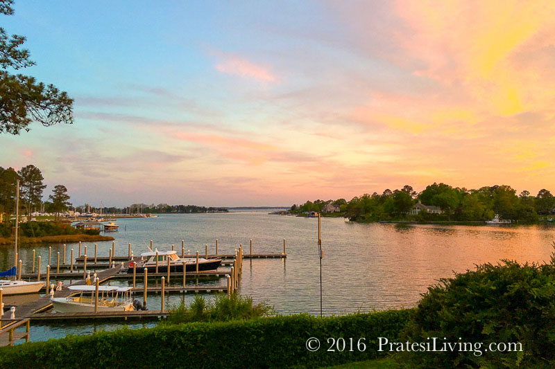 Sunset at The Tides Inn