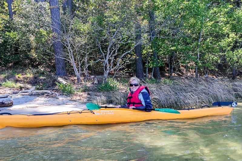 Arriving by kayak at Chatham Vineyards