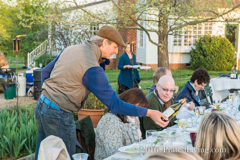 Luca Paschina at our Farm Dinner in Virginia