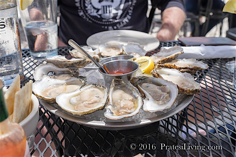 Rappahannock's oysters paired with a Barboursville white wine