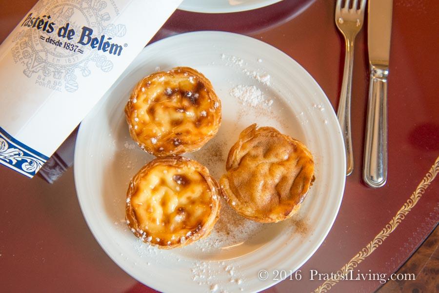 Custard tarts from Pastéis de Belém