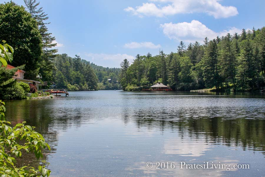 One of the many lakes in on the Highlands-Cashiers Plateau