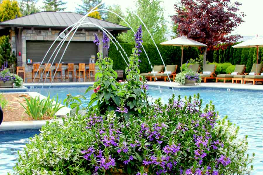 One of the pools at Old Edwards Inn