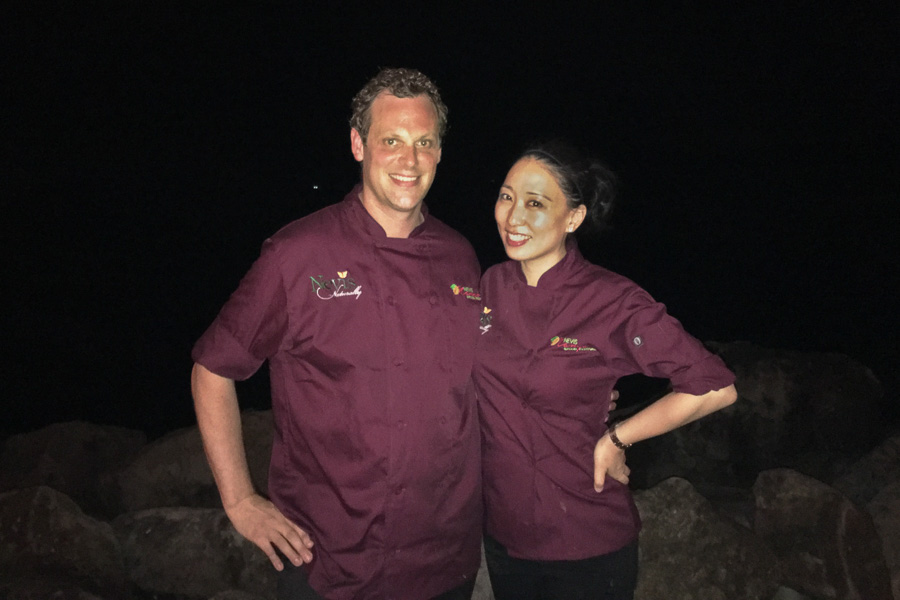 Chefs Andrew Hale and Judy Joo