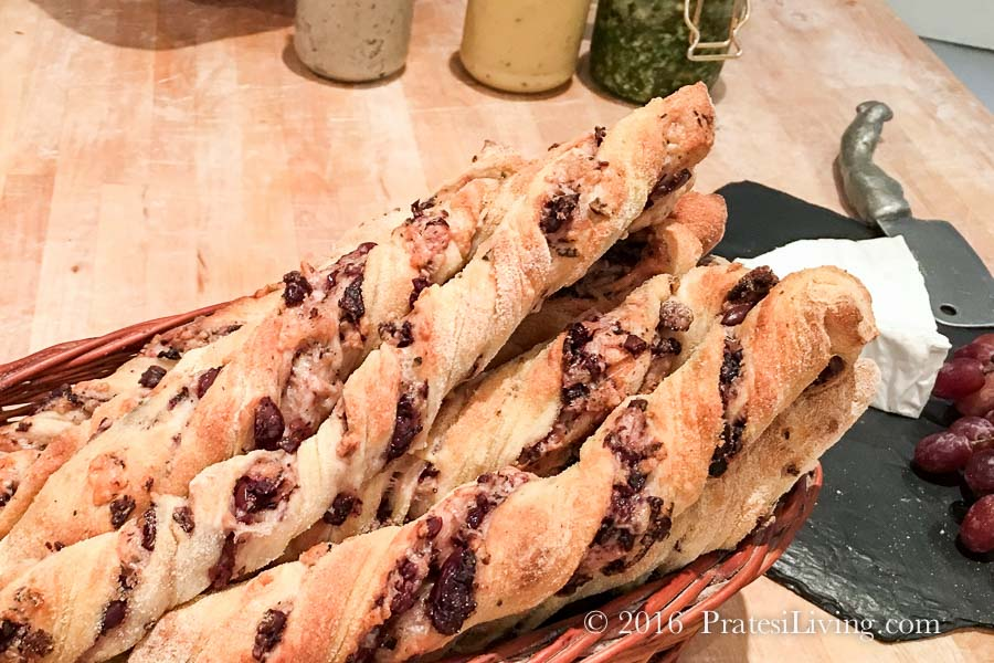 Pecorino and Olive Breadsticks