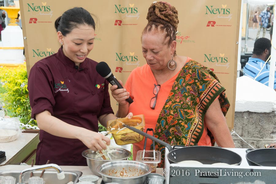 Judy's cooking demo at the festival