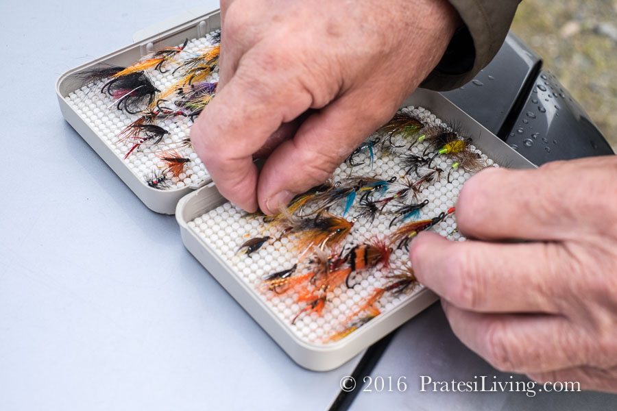 Selecting the proper flies