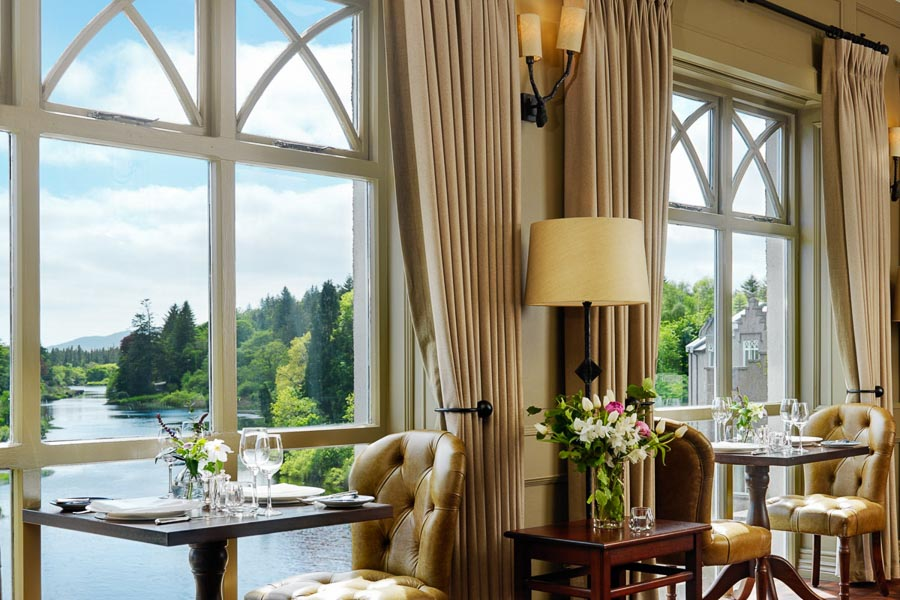 View from the dining room (Photo credit - Ballynahinch Castle)