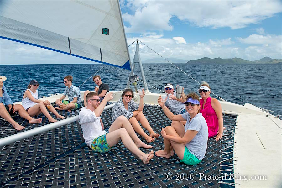 It's a perfect day for a catamaran ride