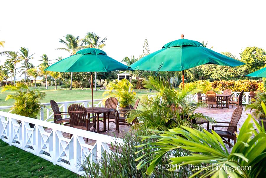 Outdoor dining at the Great House