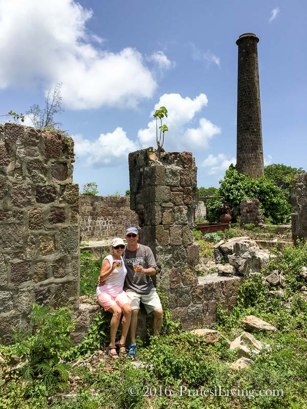 Rum Punch at the ruins