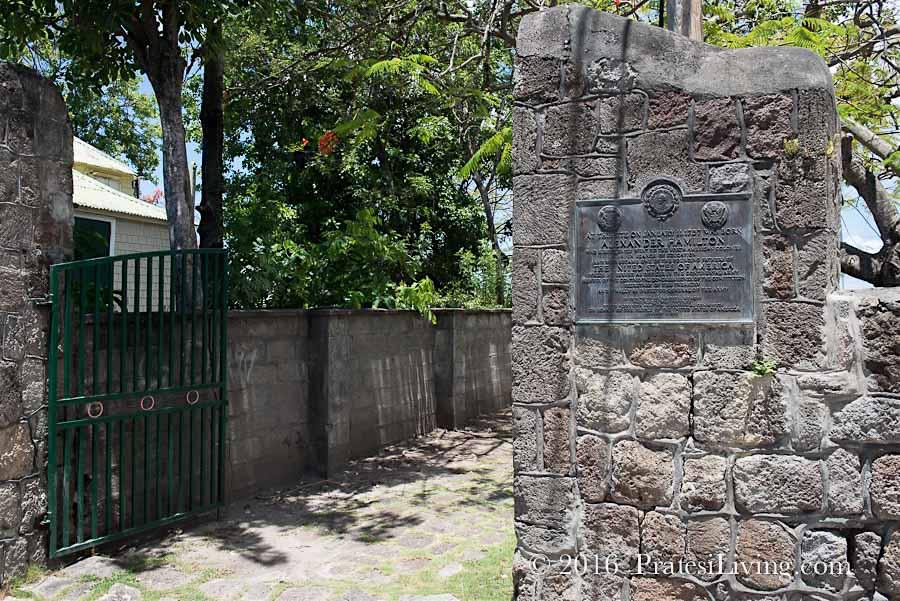 Entrance to Hamilton's home