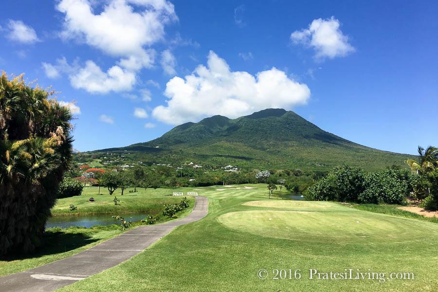Nevis Peak from The Four Seasons Resort