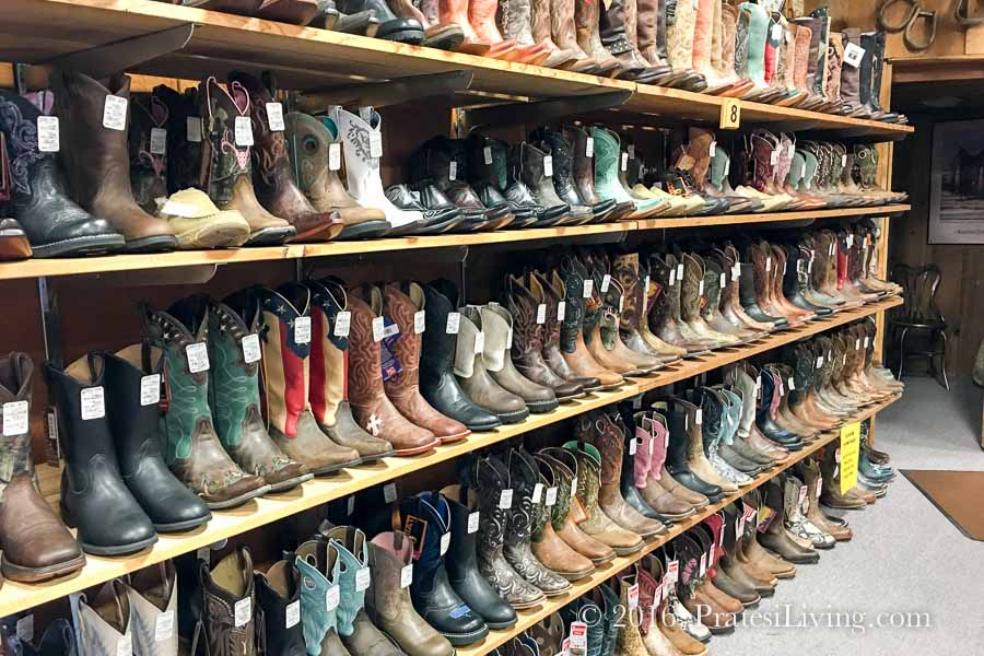 Wall of boots