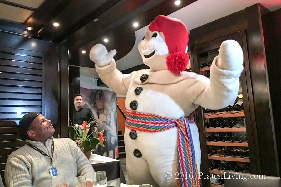 Bonhomme joined us for dinner