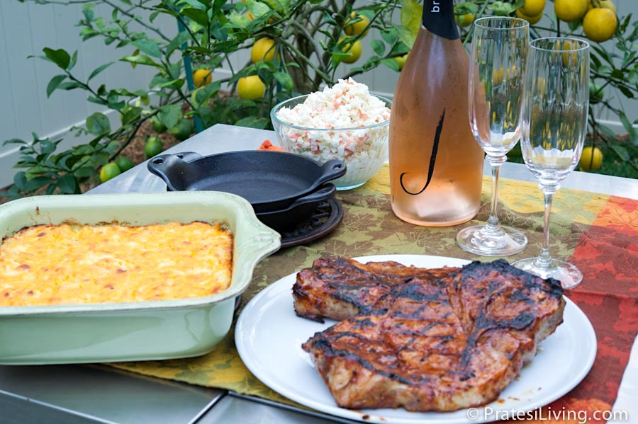 St. Louis-Style BBQ Pork Steaks Paired with J Vineyards & Winery's Sparkling Wines
