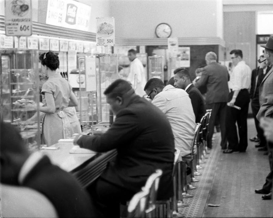 The original lunch counter at McCrory's